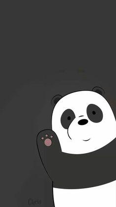 Panda We Bare Bears Wallpaper Black Background Wallpaper Tumblr Lockscreen, Panda Wallpaper Iphone, Cute Panda Wallpaper, Panda Wallpapers, We Bare Bears Wallpapers, Disney Phone Wallpaper, Bear Wallpaper, Cute Cartoon Wallpapers, Kawaii Wallpaper