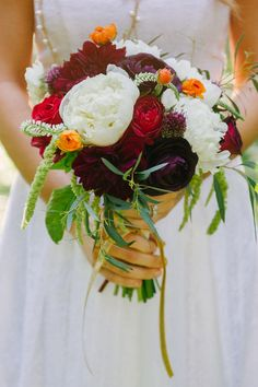 moody bouquet // photo by Catherine Guidry // http://ruffledblog.com/southern-charm-wedding-ideas