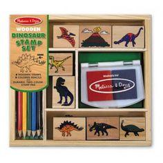 Melissa and Doug Dinosaur Rubber Stamp Set - Love the t rex stamp! Dinosaur Toys, Dinosaur Party, Dinosaur Birthday, 5th Birthday, Dinosaur Gifts, Birthday Parties, Color Pad, Stamp Pad, Melissa & Doug