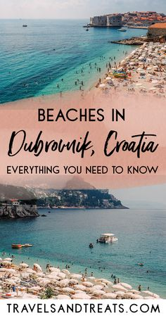 A Guide to Beaches in Dubrovnik, Croatia. Everything you need to know for your beach vacation to Dubrovnik, Croatia. Dubrovnik beach map, Dubrovnik beach hotels, and more! via @travelsandtreats