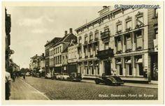 Breda, Bosstraat. Hotel de Kroon 1954