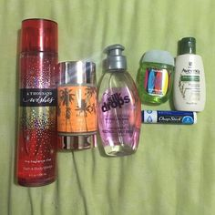 "Brand new products! Bath & body works ""a thousand wishes"" perfume, 8oz.  PINK VS count mango bronze, silk drops, hand sanitizer, aveeno lotion, and Chapstick. All never used! Other"