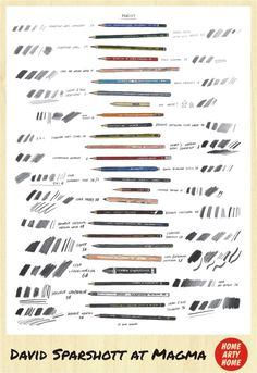 Art Studio MAGMA DAVID SPARSHOTT pencils print homeartyhome