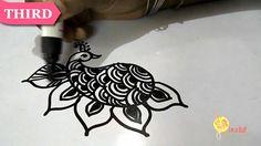 henna mehndi design tattoo : TECHNIQUE - III PEACOCK