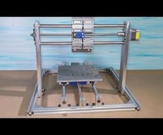 Homemade Mini CNC Milling Router Mill DIY X Stage Frame Axis Slide Aluminium