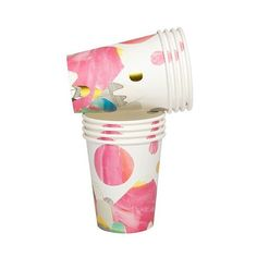 FIRST PEEK of our @laurablythman party cups - coming in 2-3 weeks from @sundayslove and now available to order online. So pretty, so cool, so Laura! You need these for your spring parties and picnics. #larkstore #limitededition #cutesteverpartycups