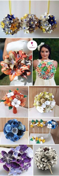 Origami Wedding Bouquet / http://www.himisspuff.com/origami-wedding-ideas/7/