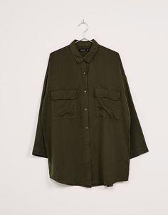 Camisa oversize Tencel - Camisas - Bershka España