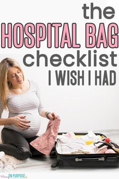 Hospital Bag Checklist for Labor - the stuff you'll ACTUALLY USE