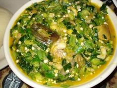 Eat by dipping fufu into soup with fingers or fork.Read more: http://caloriecount.about.com/west-african-okra-soup-fufu-recipe-r10365#ixzz0dB3Vc7Rl