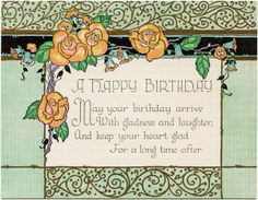 Art Deco Birthday Card ~ Free Download