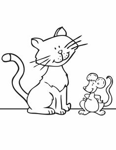 Cat Coloring Pages - They're cute, cuddly, and come in all shades and colors! Pull up a seat and help your little one create a beautiful masterpiece.