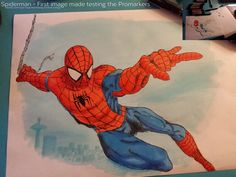 promarker drawings - Google Search Pen Art, Spiderman, Crafty, Superhero, Google Search, Drawings, Fictional Characters, Spider Man, Sketches