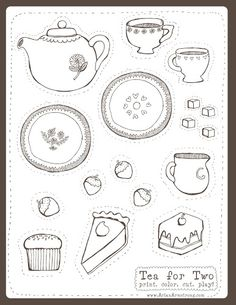 Delicious Free Download | Tea Party Printables and a Printable Planner