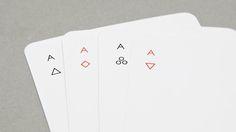 éstas cartas de Poker minimalistas son una belleza en serio.