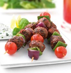Get inspired and try this delicious Vegetarian Mediterranean Kebabs Recipe, using Quorn Meatless Meatballs. Enjoy meatless alternatives with Quorn Quorn Recipes, Kebab Recipes, Veggie Recipes, Vegetarian Recipes, Veggie Food, Quorn Meals, Prawn Recipes, Veggie Meals, Quorn Meatballs