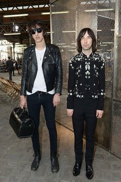 Faris Badwan and Bobby Gillespie attend the Givenchy Menswear Spring/Summer 2016 show as part of Paris Fashion Week on June 26 2015 in Paris France