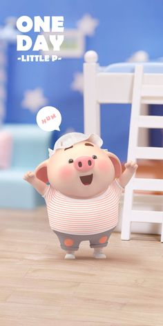 Fat Pig, Pig Wallpaper, Pig Drawing, Pig Illustration, Cute Piggies, Kawaii, Little Pigs, Guinea Pigs, Toy Chest