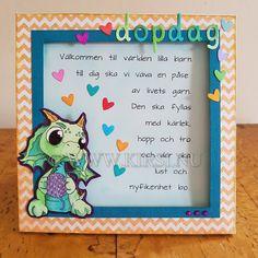 Kirsi: Baby Dino Dopkort - Baby Dino Christening card F...