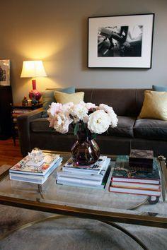 gray velvet couch