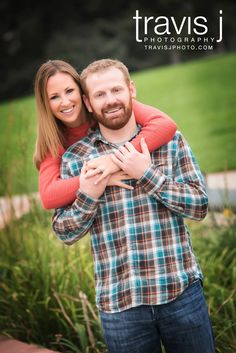 Engagement Photo, Girl wraps her arms around Guy, Plaid shirt, Travis J Photography, Colorado
