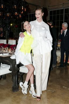 Bella Hadid, Karlie Kloss, and Joan Smalls Suited Up in Louis Vuitton Menswear for the Virgil Abloh and Chrome Hearts Dinner Bella Hadid Pictures, Bella Hadid Style, Most Beautiful Models, Beautiful People, Joan Smalls, Everyday Outfits, Persona, Nice Dresses, Celebrity Style