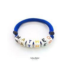 Bracelet MATHEO Messages, Bracelets, Jewelry, Bracelet Patterns, Special Person, Acrylic Beads, Initials, Jewlery, Bijoux