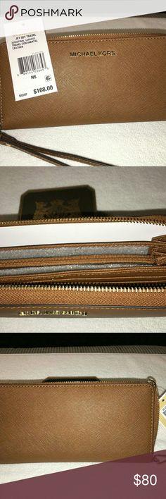 Michael Kors Jet Set Travel Wallet - NWT Beautiful - Perfect - Smart - MK Color is: Carmel Michael Kors Bags Clutches & Wristlets