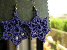 birthday earrings! (free pattern)