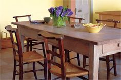 How to lime a table. [Do this on the old black dresser and put it in the dining room as a buffet.]