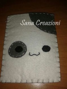 Portacellulare in feltro kawaii Cellphone case in felt kawaii Sana creazioni