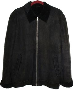 PAUL SMITH PS Mens Coat Jacket Shearling Seepskin Black Size L  #PaulSmith #BasicCoat