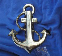 Fancy Anchor Brass Door Knocker w/ Lacquer