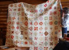 A dear Jane quilt from Fig Tree fabrics, made by Sherri McConnell http://www.aquiltinglife.com/