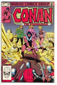 Conan The Barbarian 146 Marvel 1983 NM- Treasure Chest Comic Book Pages, Comic Book Artists, Comic Book Covers, Comic Artist, Marvel Comic Books, Marvel Comics, Caricature, Conan The Destroyer, Tales To Astonish