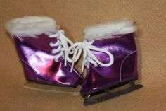 Doll Clothes fitting 18 in American Girl Dolls Purple Metallic Ice Skates w Fur in Dolls & Bears, Dolls, Clothes & Accessories | eBay
