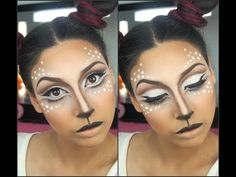 """Deer"" Halloween makeup transformation - EbonyMaizeMakeup - - YouTube"