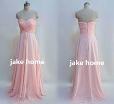 Custom Bridesmaid Dresses 2014 Prom Dress Long Party Dresses Chiffon Evening Gowns Homecoming Dress