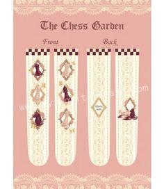 The chess garden classic lolita high socks, tailored by velvet, featuring details oriented beautiful prints. Wonderland Costumes, Lolita Dress, Gothic Lolita, Chess, High Socks, Floral Tie, Tights, Classic, Prints