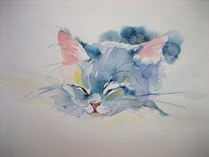 Painting & drawing, animal paintings, animal drawings, watercolor art f Animals Watercolor, Watercolor Cat, Watercolor Paintings, Watercolors, Cat Drawing, Painting & Drawing, Animal Paintings, Animal Drawings, Art And Illustration