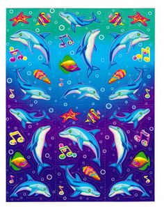Lisa Frank  Dancing Dolphins