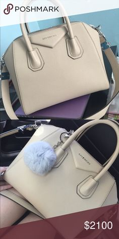 Givenchy Antigona Small Sugar Goat in Beige brand new! Purchased in June 2016. Less than three months and it's been sitting in my closet This sugar goat material antigona is so cute and fashionable! MY ITEMS ARE 100% AUTHENTIC! I've decided to sell it because it was a really impulse purchase and I'm trying to purchase another bag instead. No flaws. Retails around $2230+tax. TAGS ARE STILL INCLUDED ALONG WITH ORIGINAL DUFFLE BAG that came with this. 1900 on venmo :) Givenchy Bags Shoulder…