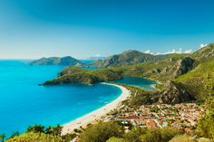 Beach destinations in Turkey Olu Deniz in the Fethiye region