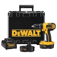 "Compact Size Allows User To Fit Into Tight Spaces Lightweight Design. Dewalt 18-volt 1 And 2"" Compact Drill And Driver Kit by My Custom Made. #myCustommade"