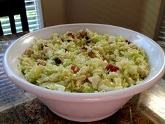 Chicken Raman Cabbage Salad--different from my oriental tasting one. Might have to give it a try.