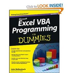 Excel VBA Programming For Dummies (For Dummies (Computer/Tech)) [Paperback]