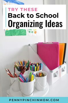 One way to make your days (and evenings) better, is to get organized. We've rounded up some of the most brilliant back to school organizing ideas you'll find anywhere! Back To School Organization, Life Organization, Organizing Your Home, Organizing Ideas, Create A Budget, Saving Ideas, Kids Education, Getting Organized, School Supplies