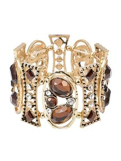 Shop Gold Vintage Hollow Out Rhinestone Bracelet from choies.com .Free shipping Worldwide.$11.99