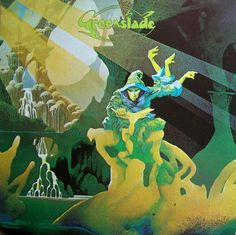 "Greenslade ""Greenslade"" Warner Brothers K 46207 12"" LP Vinyl Record, UK Pressing (1973) Gatefold Album Cover Art & Design by Roger Dean"