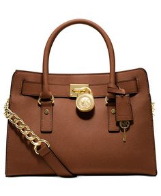 MICHAEL Michael Kors Studio Hamilton Saffiano Leather East West Satchel | macys.com